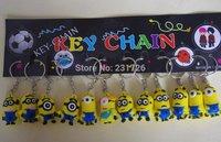 Despicable Me Key chain Movie Anime Minion toys Figure Pendants 12pcs/set Free Shipping
