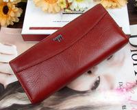 Special sales Genuine leather women's wallet clutch long design clip wallet Long Wallets Purse Bag Cow Leather Wallet A-014