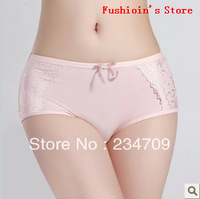 Free shipping,wholesale lingerie/panties/shorts women Pure cotton underwear in the waist,sexy lace briefs for women,3 pcs/lot