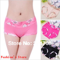 lingerie/panties/shorts women Lace bamboo fiber, female comfortable underwear,briefs/girlsfor women,3 pcs/lot