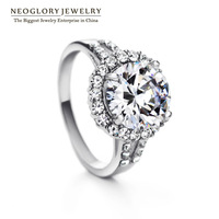 Neoglory New 2014 Brand Engagement & Wedding Rings for Women Finger Bands Rhinestone Jewelry Accessories Wholesale