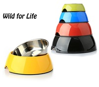 Brand New 2-in-1 Melamine Stainless Steel Dog Bowls Cat Bowls - Water Food Feeder for Small and Medium Pets