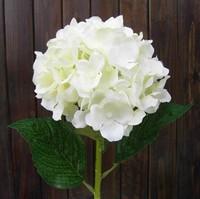 Simulation Silk Flower (4 Pcs/Lot) White Artificial Fabric Hydrangea Bouquet Wedding Home Decorations 4 Color