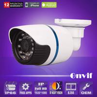 New mini 1080P 2.0 Megapixel HD 24IR Onvif Night Vision Weatherproof  CCTV Network Camera