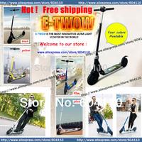 E-TWOW etwow Mini folding electric scooter Free shipping (1pcs)  250w brushless motor 24v 5.8ah li-battery chariot bike biclcyle