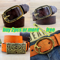 Real leather women belt,high grade leather belt ,best gift for girls,4 colours for choosing WL01