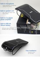 Wireless Bluetooth Handsfree Speakerphone Car Kit With Car Charger Bluetooth Hands free Kit  free Shipping
