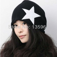 1 piece,2013 fashion Korean five-pointed star line wool knitted cap, men and women lovers hip-hop cap,multicolor,free shipping