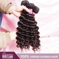 Curly Hair Peruvian Deep Wave 2 PCS LOT Unprocessed Peruvian Hair Can Be Dyed,No Shedding No Tangle,Free Shipping