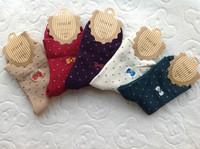 Free Shipping 5Pairs/lot  Women brand Socks  Bowknot Cotton Women Sock,Candy Color stars Fashion Short Socks,Many Colors WDH