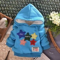 Clothing New 2014 Autumn section Boys girls hooded sweater thickening Baby cotton velvet jacket plus car  Pullovers