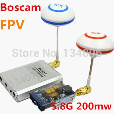 Boscam FPV 3km 5.8Ghz 200mw Wireless Audio Video Transmitter Receiver 5.8G Cloverleaf RC MultiCopter DJI Phantom Gopro Hero3(China (Mainland))