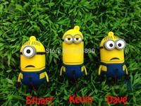 Usb Flash Drive Despicable Me 2 , Dave, Kevin, Stuart 8GB 16GB 32GB 64GB Plastic Cartoon  Pendrives Memory Stick Pen Drive