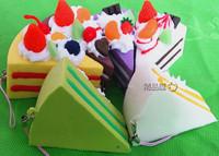 New 7.5cm Kawaii Squishies Bread Lanyard Bag Charm Wholesale Free Shipping Rare Squishy Cake/Keychain Phone Charm