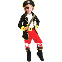 Free shipping halloween costume children cosplay costume role playing children party clothes retail pirates costume kids