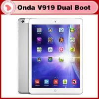 Onda V919 3G Air Dual Boot Tablet PC Android & Windows OS Quad Core 2GB/64GB 3G WCDMA tablet Retina 2048x1536 Intel Z3736F GPS