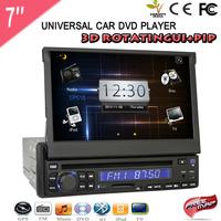Hot Sale Universal 7'' Car Audio DVD Player Support 3D Rotating UI  Bluetooth TV Mp3 FM Transmitter USB SD EMS/DHL Free Ship