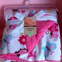 Free shipping 2014 new Spring and summer  baby blankets coral fleece baby bag newborn baby sleeping blanket Factory Sales