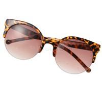 New Fashion Unisex Designer Super Round Circle Cat Eye Semi-Rimless Retro Sunglasses Glasses B2# 5635