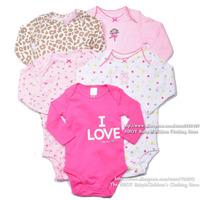 Комплект одежды для девочек 5pcs/lot Brand Sport Rompers Baby clothing sets Boys Girls Bodysuits Overalls Pink blue Cotton Short Summer 2014