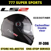 100% Genuine LS2 FF396 CT2 Carbon Fiber Motorcycle Helmets Racing Casco Air Pump Helmet Built-In Len Free Shipping
