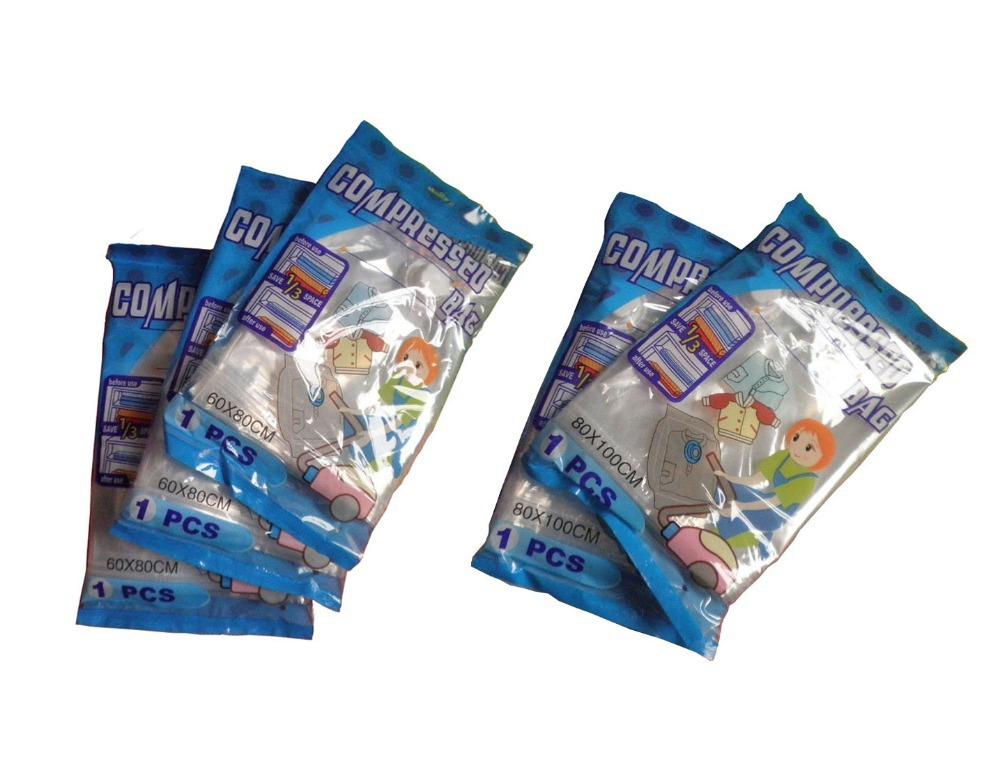 FRETE GRÁTIS , 5pcs saco de vácuo set, vácuo saco de armazenamento / espaço Vacuum salvar saco comprimido / 60x80x3pcs / 80x100x2pcs(China (Mainland))