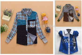 Free shipping 2014 new Kids shirts Top long Sleeves kids T-shirt  cotton Boys t shirt /Children's T-Shirts/Child Tops shirtTee