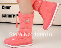 New 2014 Women footwear Winter Long Snow boots Women genuine leather shoes Long boot waterproof wholesale Russia and Brazil SC31