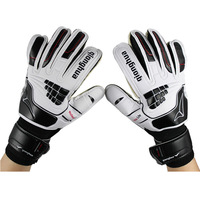 Hot sale slip-proof latex goalkeeper gloves wholesale soccer professional wear-resistant qionghua QH-536 sports safety Athletic