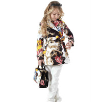 Top quality 2014 italy brand designer girls trench coat,European and american girls' jackets & coats children outerwear 2-12Y
