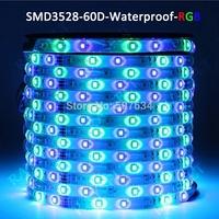 5m 60 Leds/M IP65 Waterproof ribbon Strip lighting roll 12v smd 3528 RGB