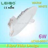 5PCS/LOT 6w LED panel light High quality 2835 smd led ceiling light for home light 1440lm 85-265v recessed light  LP1