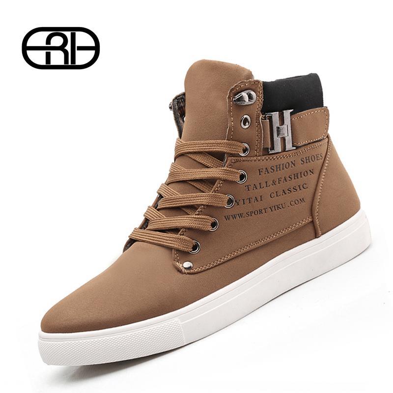 Chaude chaussures tenis 2014 sapatos masculino mâle. mode printemps automne chaussures en cuir pour hommes occasionnels chaussures hautes espadrilles en toile