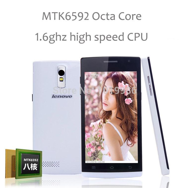 """Original Phone MTK6592 Octa Core android4.2 Lenovo phone 4.5"""" IPS 2G ram 4G rom 8MP unlocked instock(China (Mainland))"""