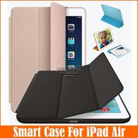 Hot Sale Leather Case For iPad 5 iPad Air Smart Case 1:1 Official Original Ultra Slim Flip Stand Cases For Apple iPad Air Cover