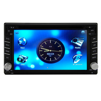 Universal 2din Car DVD Player For Any Cars Use 6.2inch Touch Screen With Bluetooth,Navigation-Read GPS,iPod-Input,FM,AM,RDS