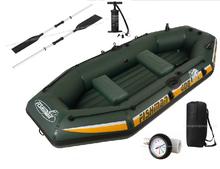 jilong new fashion inflatable 3 adult +1 child inflatable fishing boat PVC inflatable kayak,size295*128*43cm(China (Mainland))