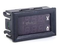 10pcs/Lot Red Blue LED DC 0-100V 10A Voltage Current Meter Dual Digital Voltmeter Ammeter Panel Amp Volt Gauge #6 TK1382