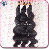 Brazilian body wave virgin hair 3 pcs lot free shipping 6A brazilian virgin hair body wave human hair weave natural black hair