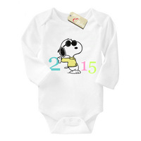 Brand Mom Love Baby Baby boy romper I was born in 2015 cartton one piece long sleeve cotton newborn baby clothes