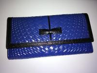2014  new crocodile pattern two-fold wallet female long design wallet genuine leather cowhide crocodile pattern day clutch