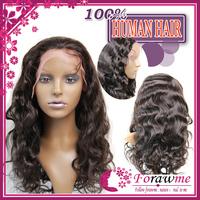 brazilian virgin human hair lace front wigs glueless body wave #2 darkest brown density 130% medium brown lace wigs cap Forawme