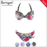 New 2014 Fashion Print Bikinis Set For Women Push Up Padded Swimwear Bikini High Waist Colored Floral Leopard Brazilian Swimsuit