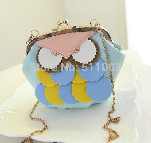 Wholesale Owl Women Messenger Bags Lovely Campus Women Leather Handabgs Cute Designer Women Handbags(China (Mainland))