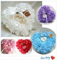 Wedding Favors Ring Pillow With Transprent Ring Box 5 Color Heart Design Very Special Unique Ring Pillow Decorations Favor 2014