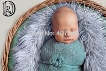 (75*50cm) Faux Fur Blanket Basket Stuffer Mongolia Fur Photography Props Newborn Photography Props(China (Mainland))