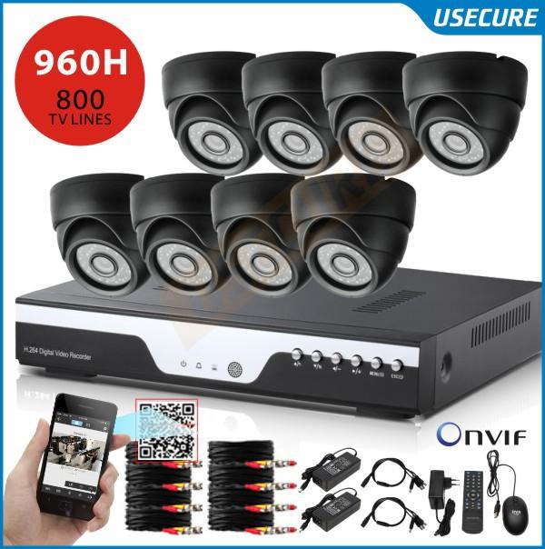 Система видеонаблюдения USECURE 8 960h 800tvl dvr USB 3G wifi US-9008HC-800TVL