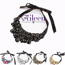 New 2014 Fashion Vintage Rhinestone Necklaces & Pendants Chokers Short Necklaces For Women  Jewelry  Bijouterie Wholesale