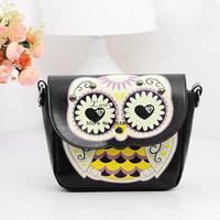 women cute small mini animal handbag cartoon owl shoulder candy messenger bag phone bags card wallet purse totes SV001125 b009