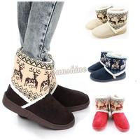 Women's Winter Animal Prints Warm Cotton Thicken Snow Platform Boots Shoes b012 18389